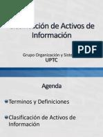 Inventario y Clasificación de Activos de Información