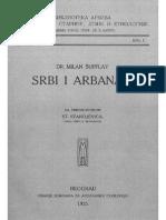 """Milan Shufflay  """"Srbi i Arbanasi"""" botimi vitit 1925"""