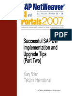 Successful SAP BW Implementation and Upgrade Tips Part Two - V.2