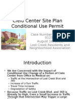 Cielo Center Conditional  Use Research
