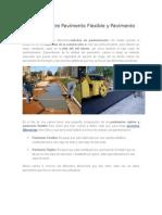 Diferencia entre Pavimento Flexible y Pavimento Rígido