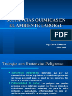 Sustancias Químicas en El Ambiente Laboral