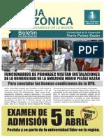 Franja Amazonica Boletin N° 01 Abril 2015