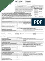 faculty advisor practice teaching evaluation