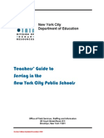 Teachers' Guide to Serving in the NYC Public Schools