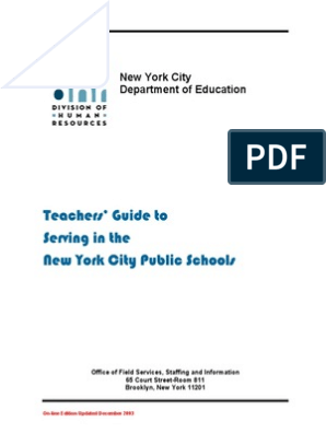 Teachers' Guide to Serving in the NYC Public Schools | Academic