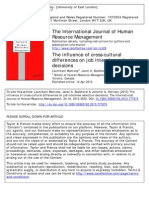 The Influence of Cross Cultural Differences on Job Interview Selection Decisions (Manroom, L. Et Al. 2015)