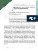 Reassessing the Protean Career Concept (Guebler, M Et Al. 2014)