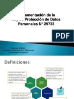 Ley de Proteccion de Datos Personales - Metodología de Implementación
