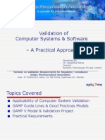Validation of Automated Systems & Software - A Practical Approach