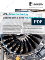 Manufacturing Engineering and Management Msc