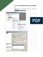 Crear Backup y Su Restauración en SQL Server