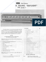 MHP Southern Pacific Daylight 79' Parlor Car Kit