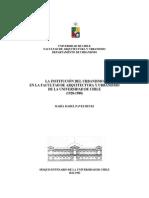 La Institución Del Urbanismo en La Facultad de Arquitectura y Urbanismo de la Universidad de Chile (1928 - 1988)