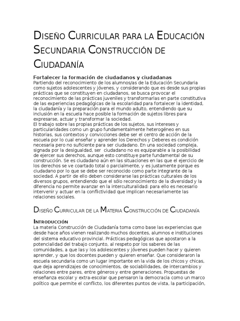 Diseño Curricular Construccion de La Ciudadania 3(Recuperado)