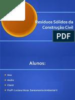 Apresentação - Resíduos Sólidos na Construção Civil