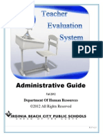 teacher evaluation administrative guidelines