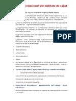 Diseño Organizacional Del Instituto de Salud Del Niño
