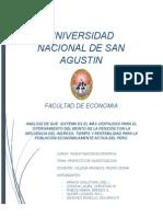 Planteamiento Del Problema Pensiones en el Peru