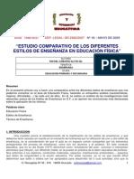 """""""Estudio Comparativo de Los Diferentes Estilos de Enseñanza en Educación Física"""""""
