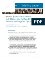 Yemen, Saudi Arabia and the Gulf States-Elite Politics