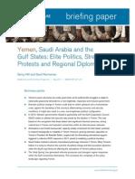 Yemen, Saudi Arabia and the Gulf States-Elite Politics
