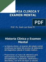 Historia Clinica y Examen Mental