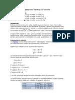 Operaciones Aritméticas Con Funciones