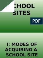 Schools Sites