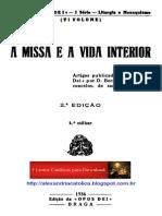 D. Bernardo de Vasconcelos_A Missa e a Vida Interior