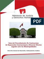Guía Del Procedimiento No Contencioso de Separación Convencional y Divorcio Ulterior MINJUS