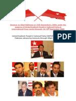 Seminar on Gilgit Baltistan on 25th September[1]