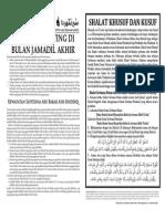 MIMBAR 23 - Jamadil Akhir 1436H/April 2015M