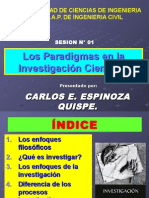 Sesion N_ 001 - Paradigmas de La Investigacion