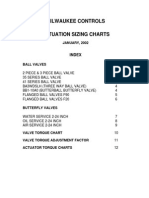 Actuation Sizing Chart