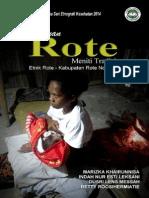 Perempuan Rote Meniti Tradisi; Riset Ethnografi Kesehatan 2014 ROTENDAO
