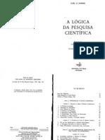 POPPER. a Lógica Da Pesquisa Científica