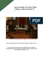60 Razones Para No Asistir a La Nueva Misa, Novus Ordo Missae o Misa de Pablo VI - Foro Católico