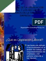 El Manejo de La Legislacion Laboral