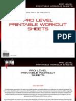 MI40-X - Workout Sheets - 3. 'Pro' (Advanced)
