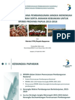 Singkronisasi RPJM Pusat Dan Daerah Serta Aahan Kebijakan Untuk RPJMD Provinsi Papua 2013-2018