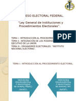 Proceso Electoral Federal.