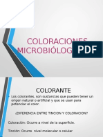 COLORACIONES  MICROBIÓLOGICAS