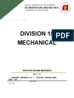 Modified Division 15 Written Report