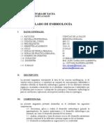 Silabo Embrio Medicina 2014-II