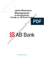 Human Resource Management Practices of AB Bank Limited