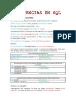 Sentencias en SQL