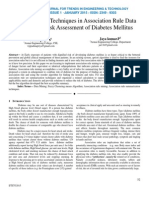 Summarization Techniques in Association Rule Data Mining For Risk Assessment of Diabetes Mellitus