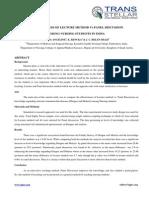 10. Edu Sci - Ijesr - Effectiveness of Lecture Method - Helen Shaji