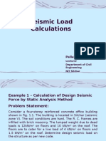 Seismic Load Calculation